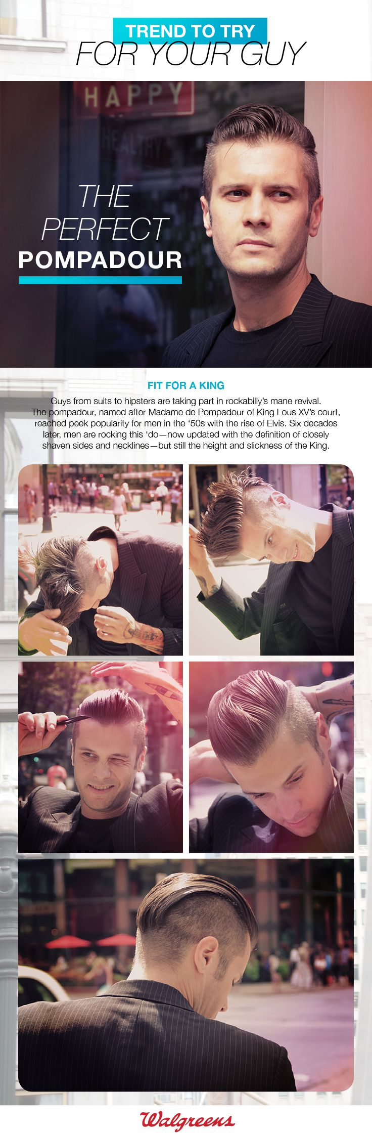 Mens haircut tutorials create the perfect pompadour with a wide variety of menus pomade