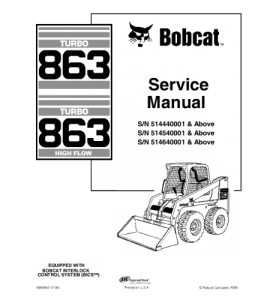 Best download bobcat 863 skid steer loader service repair