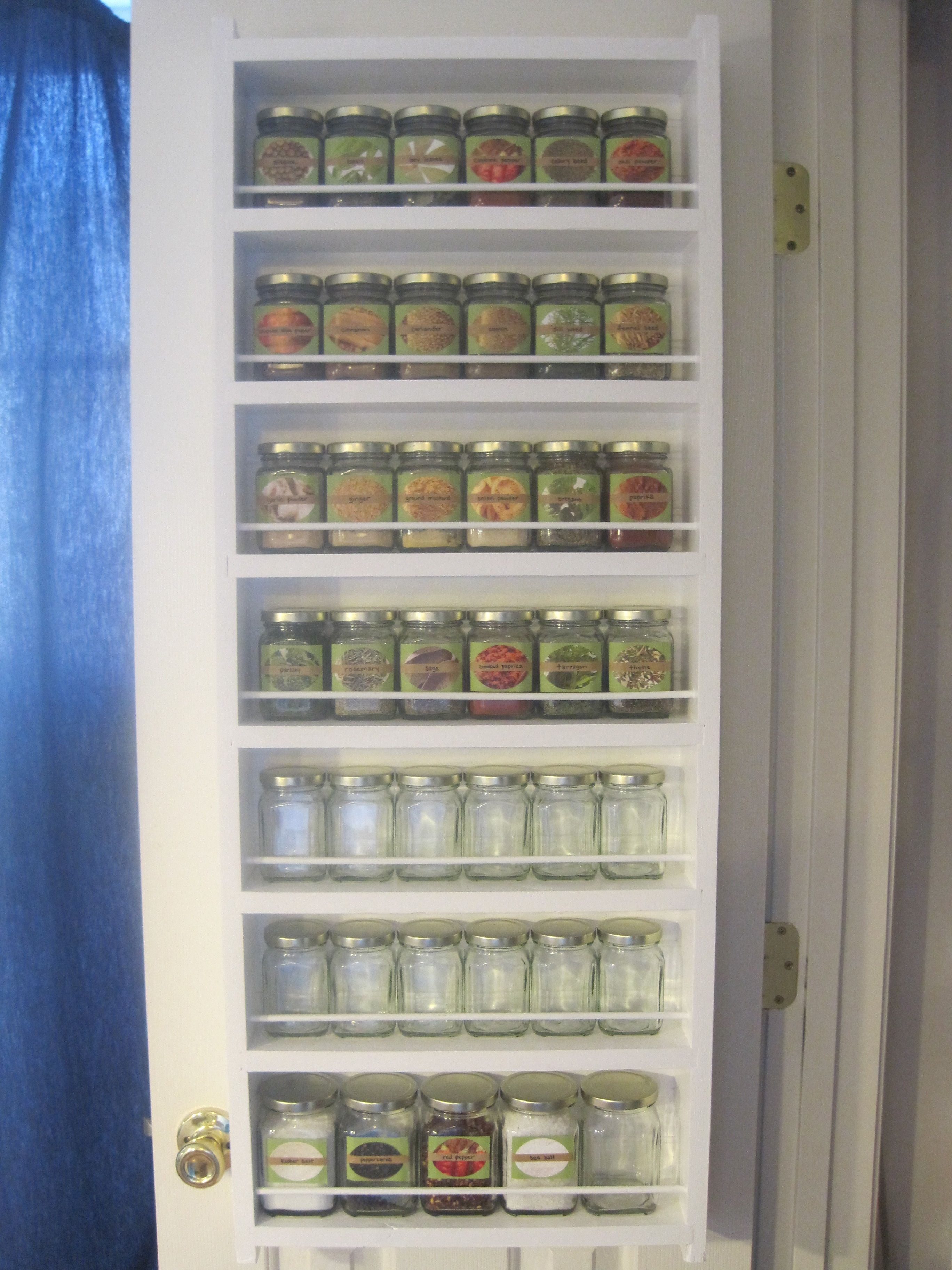 Spice Rack Behind Pantry Door