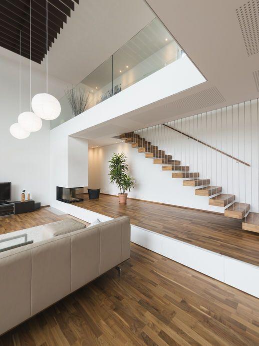 Photo of # Casa unifamiliare #Hanghaus # Röthis modern # Piscina in acciaio inossidabile # Casa di lusso con piscina # L …