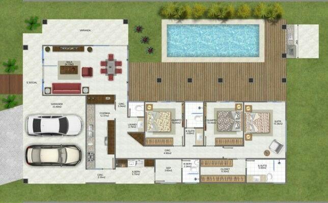 Casa En L Planos En 2018 Pinterest House House Plans Y Home - Planos-de-casas-en-l