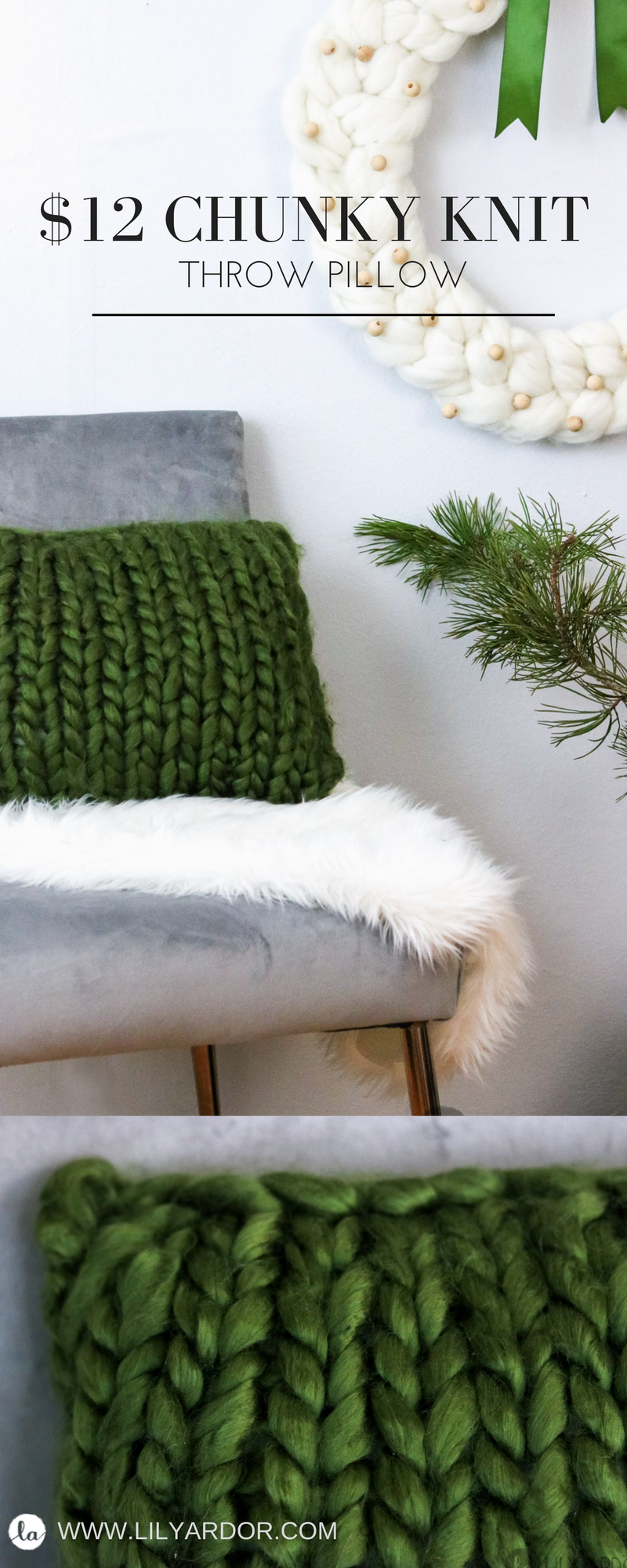 CHUNKY KNIT Throw PILLOW - IN UNDER AN HOUR- Lily Ardor