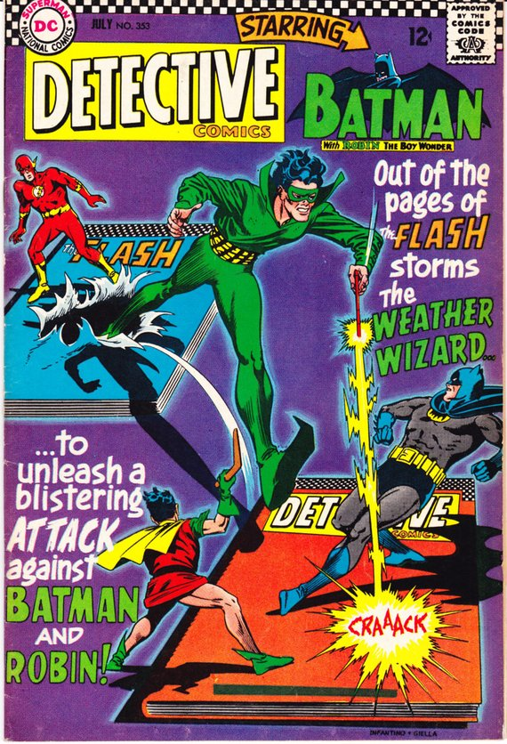 Detective Comics 353 Comic Batman And The Flash Superhero Robin