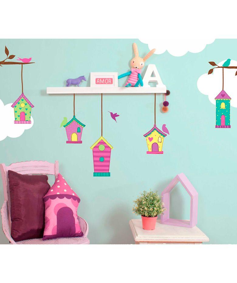 Casitas vinilo adhesivo decoraci n de paredes for Decoracion paredes vinilos adhesivos