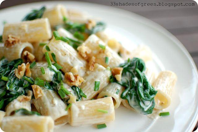 Gorgonzola, Spinach, & Toasted Walnut Rigatoni