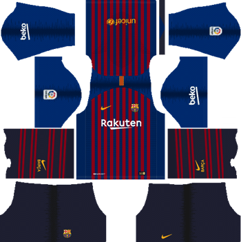 Dream League Soccer Kits Barcelona 2018 19 Kit 512x512 Url Soccer League Barcelona Team Soccer Kits