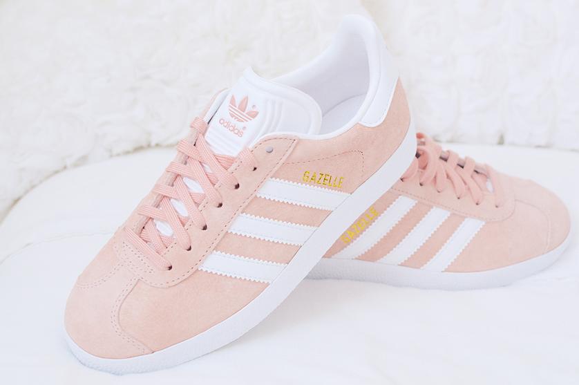 Blush pink adidas gazelle womens  072f9c6c8