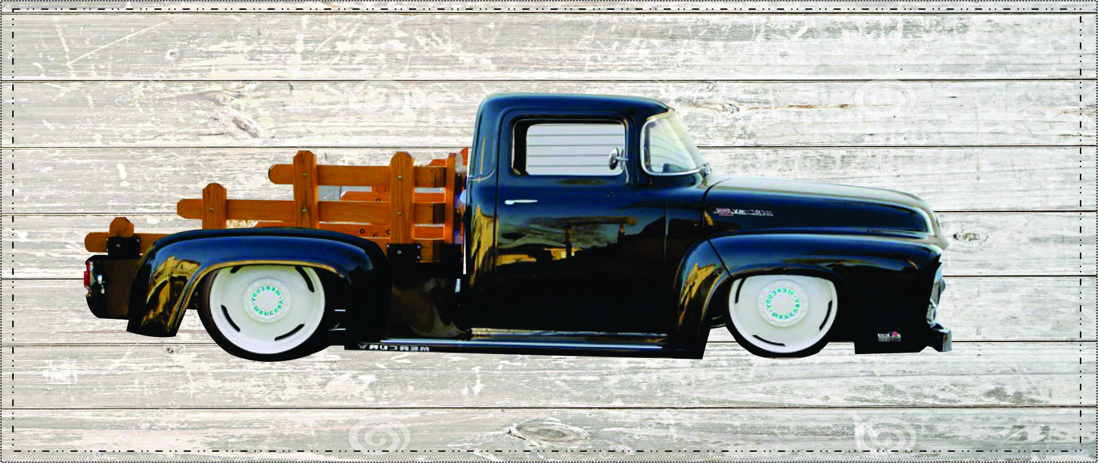 FORD F-100 CARROCERIA ESTILO FLATBED. That's Cool Someone's Photoshopped My Photoshop!