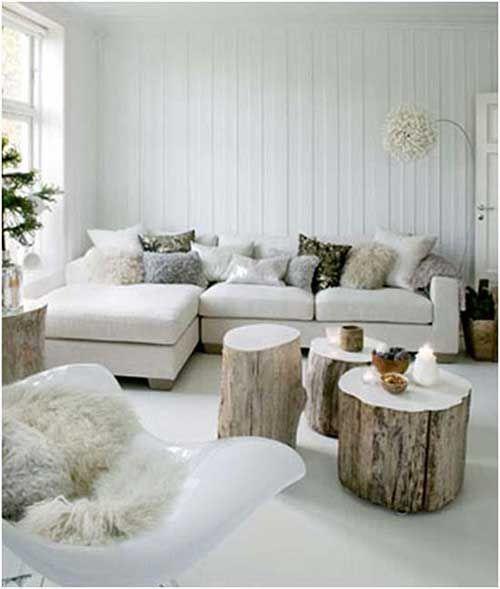 ideas para utilizar troncos de madera en la decoracin