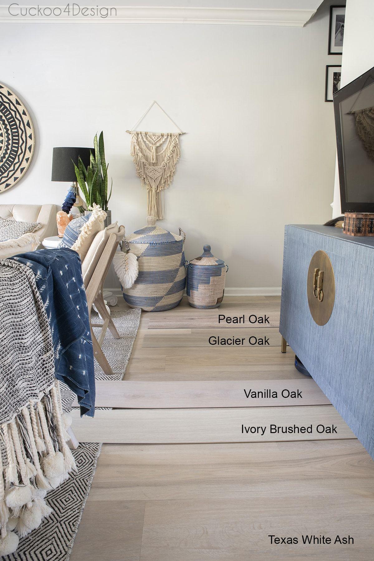 Comparing Light Colored Wood Vinyl Plank Flooring Samples Cuckoo4design In 2020 Vinyl Plank Flooring Vinyl Plank Vinyl Flooring