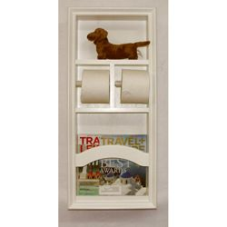 Recessed In The Wall Magazine Rack With Mega Toilet Paper Holder