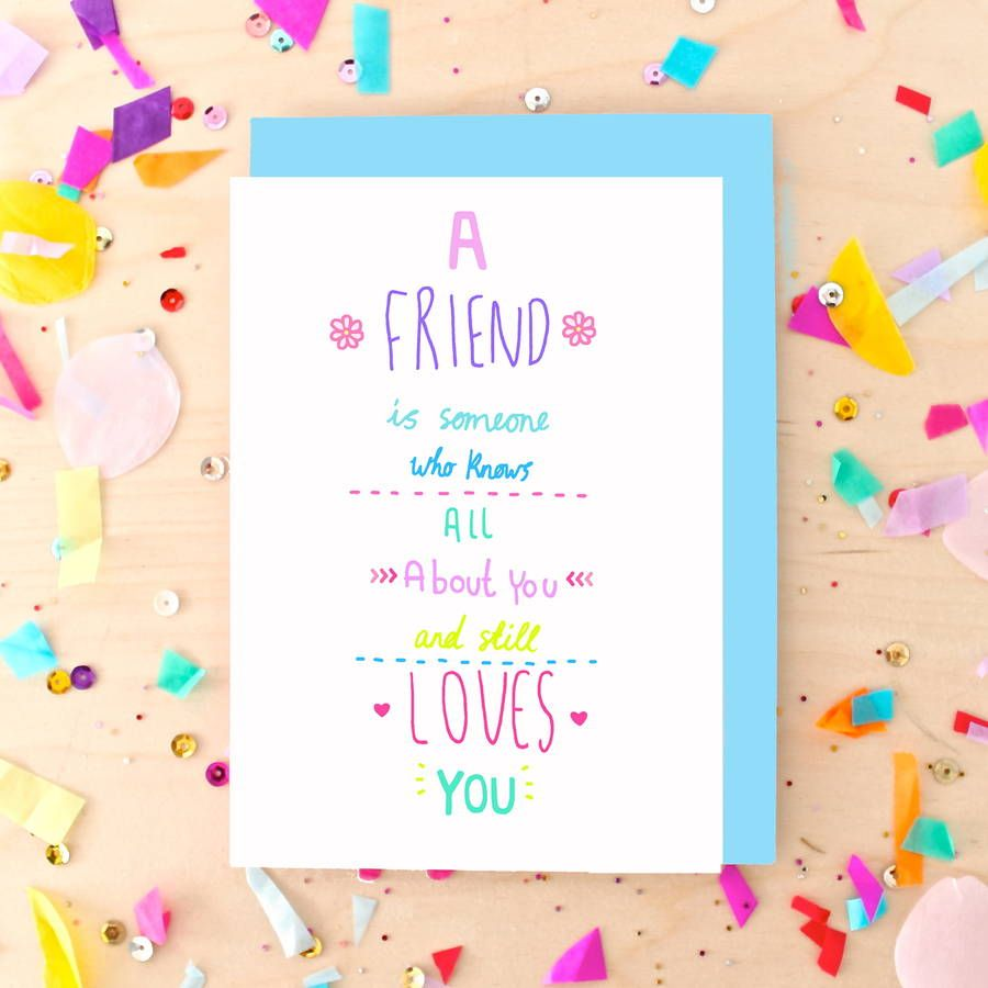 Best Friend Quote Greeting Card With Images Greeting Cards