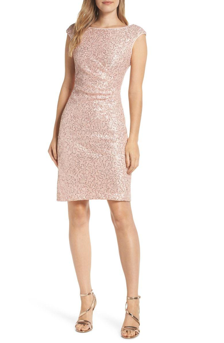 Vince Camuto Sequin Lace Sheath Dress Nordstrom Trendy Cocktail Dresses Dresses Sheath Dress [ 1196 x 780 Pixel ]