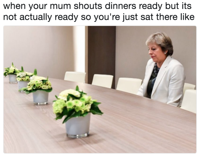 Lonely Theresa May