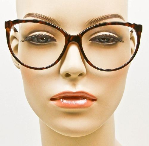 de4450d9f6 CAT EYE SEXY TORTOISE LARGE GLASSES CLEAR LENS EYEGLASSES FRAMES ...