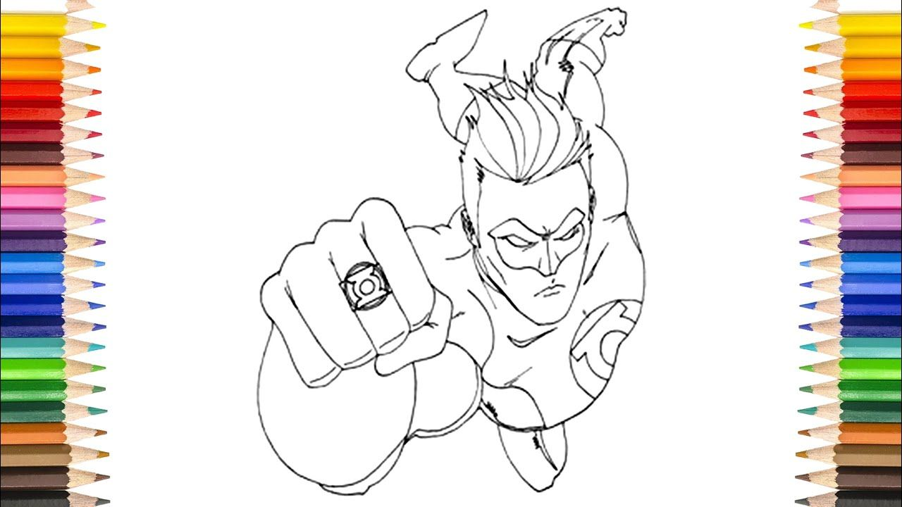 Green Lantern Coloring Pages Red Yellow Green And Orange Lantern Coloring Pages Read The Rest Of This En Orange Lanterns Coloring Pages Green And Orange