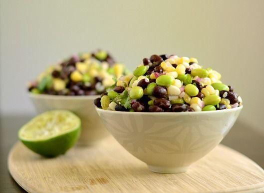Black bean, corn and edamame salad from @Julie Andrews of Tastefully Julie