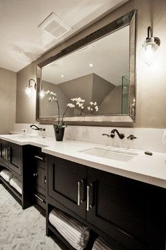Bathroom Design Ideas, Pictures, Remodel And Decor Simply Add Textured Rock  Wall Behind Mirroru2026love This!