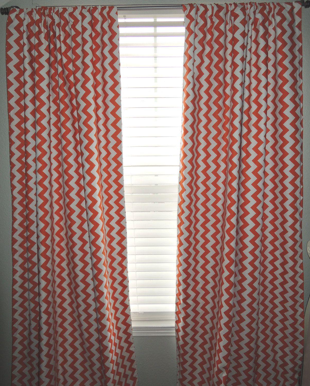 Orange Chevron Curtains From Babylovin Com Via Etsy Chevron Curtains Orange Chevron Curtains