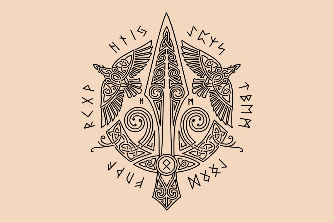 Ancient Viking Symbols That Appear In The Most Intense Tales Of Norse Mythology Ancient Viking Symbols Viking Symbols Norse Tattoo
