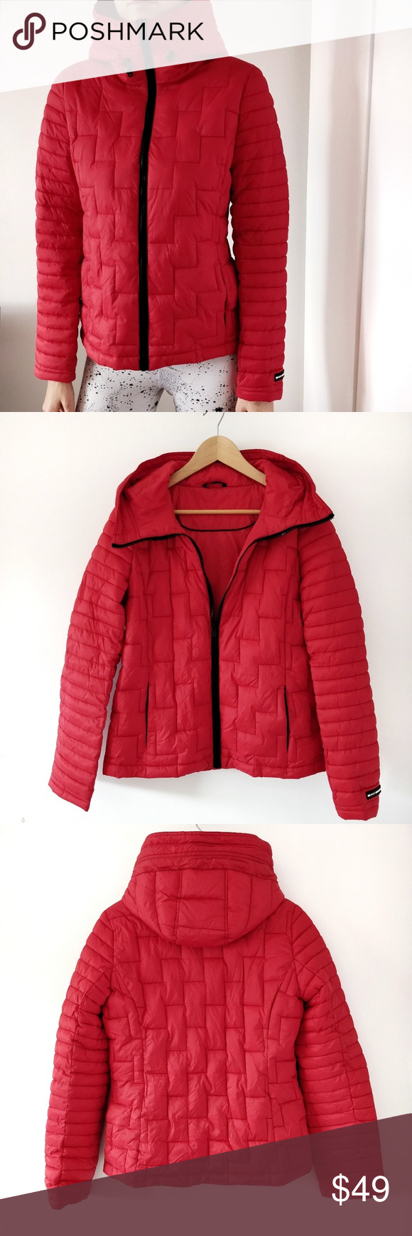 Nwt Dkny Quilted Lightweight Red Puffer Jacket S Lightweight Outerwear Puffer Jacket In Size Small Approx Length Red Puffer Jacket Clothes Design Fashion [ 1740 x 580 Pixel ]