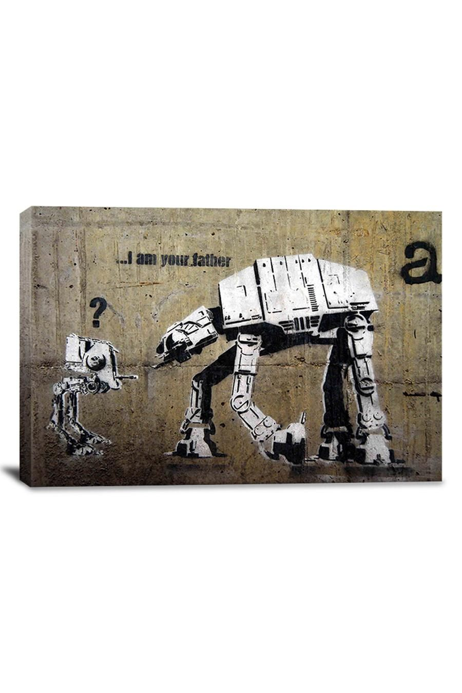 Banksy I Am Your Father  26inX18in Canvas Print