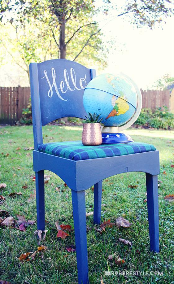 Furniture Flip: A Handsome Painted Chest With Velvet Finishes By  RobbRestyle.com. Selbstgebastelter StuhlAlte StühleStuhl Neu  GestaltenGestrichene ...