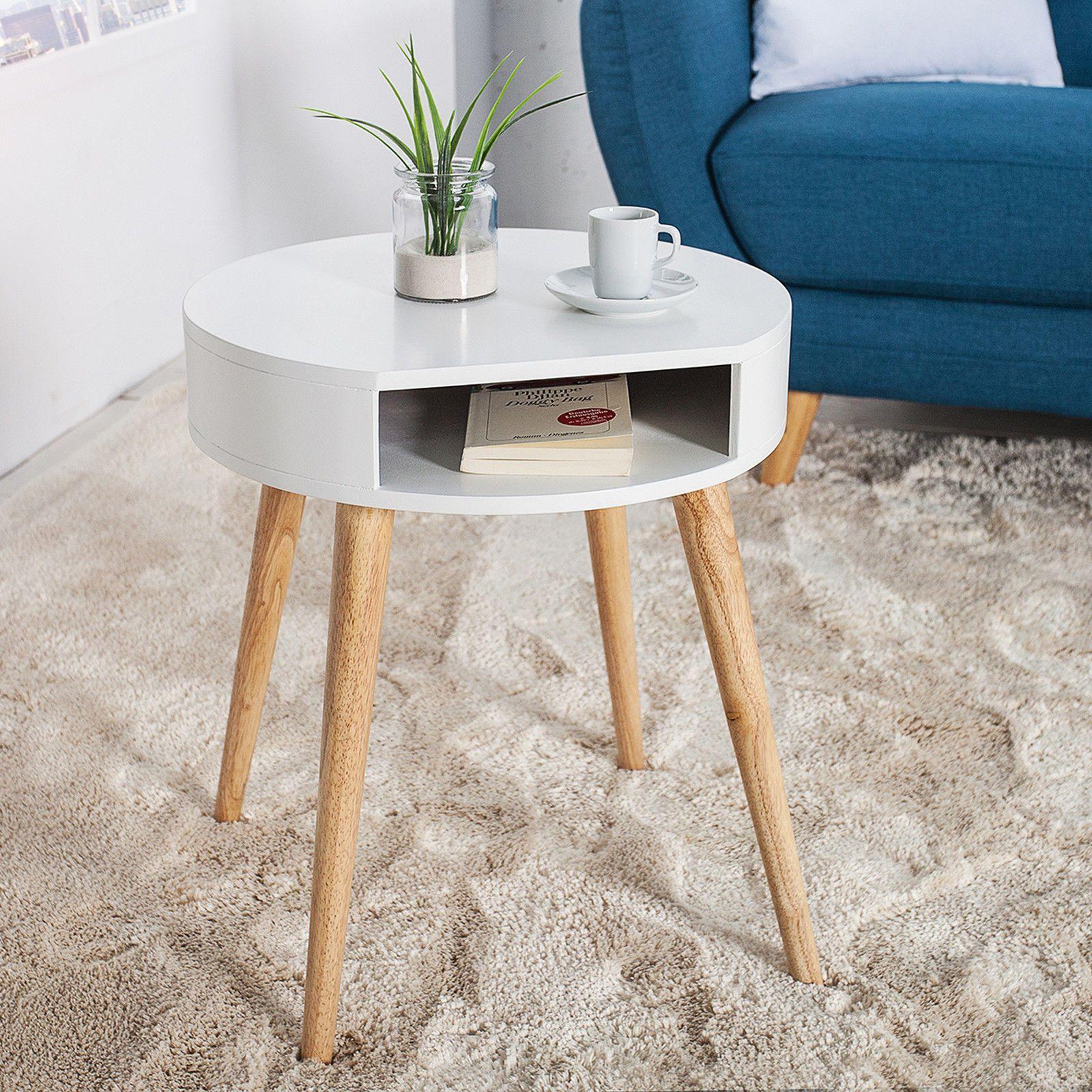 Retro Beistelltisch Scandinavia Weiss Eiche Nachttisch Tisch Holztisch Mit Fach For Sale Eur 59 95 See Photo Design Tisch Design Beistelltisch Beistelltisch
