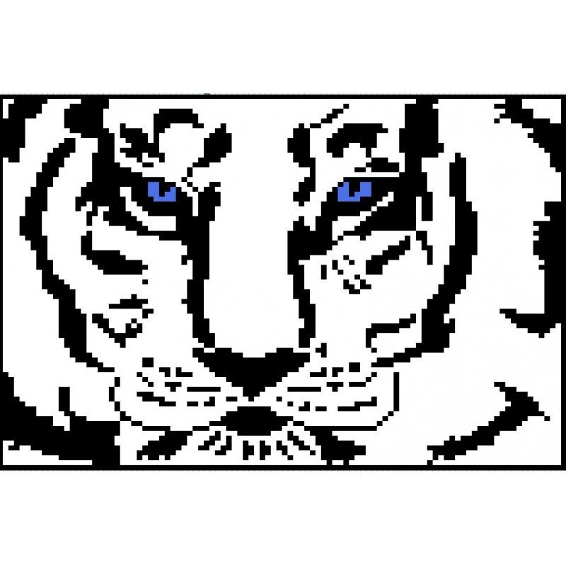 White Tiger Afghan Pattern - C2C Graph | Blankets and Afghans ...