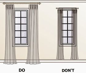 How To Make Living Room Curtains Display Furniture Hang The Window Look Bigger Our New Home