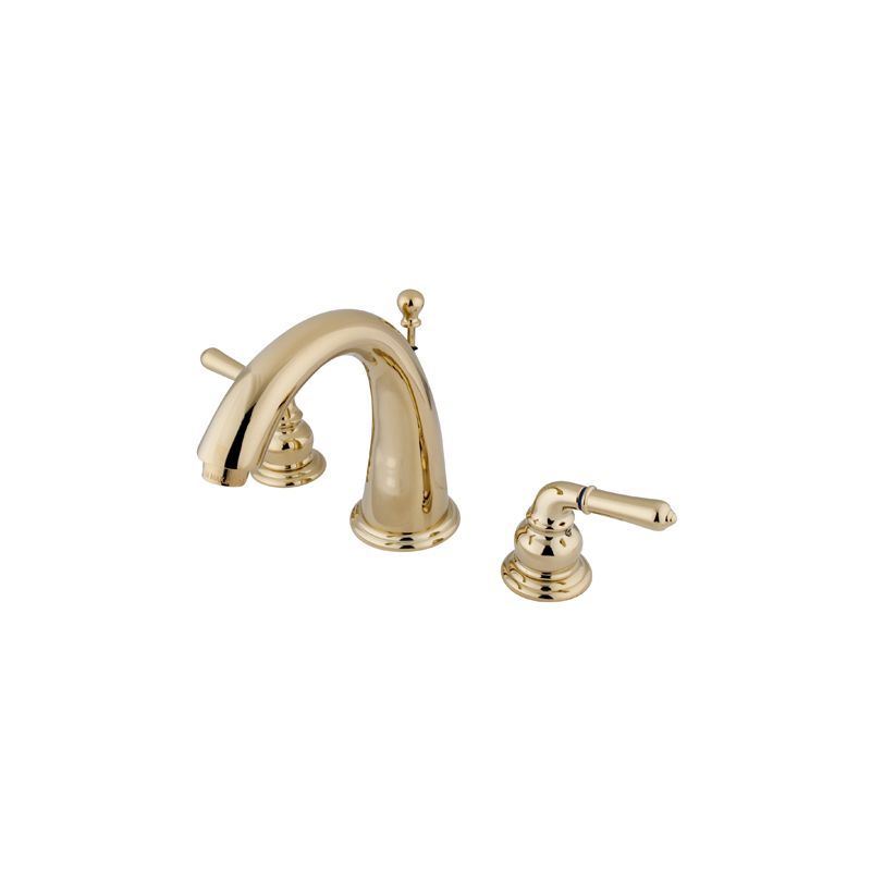Kingston Brass KS296 Naples Widespread Bathroom Faucet with Pop-Up ...