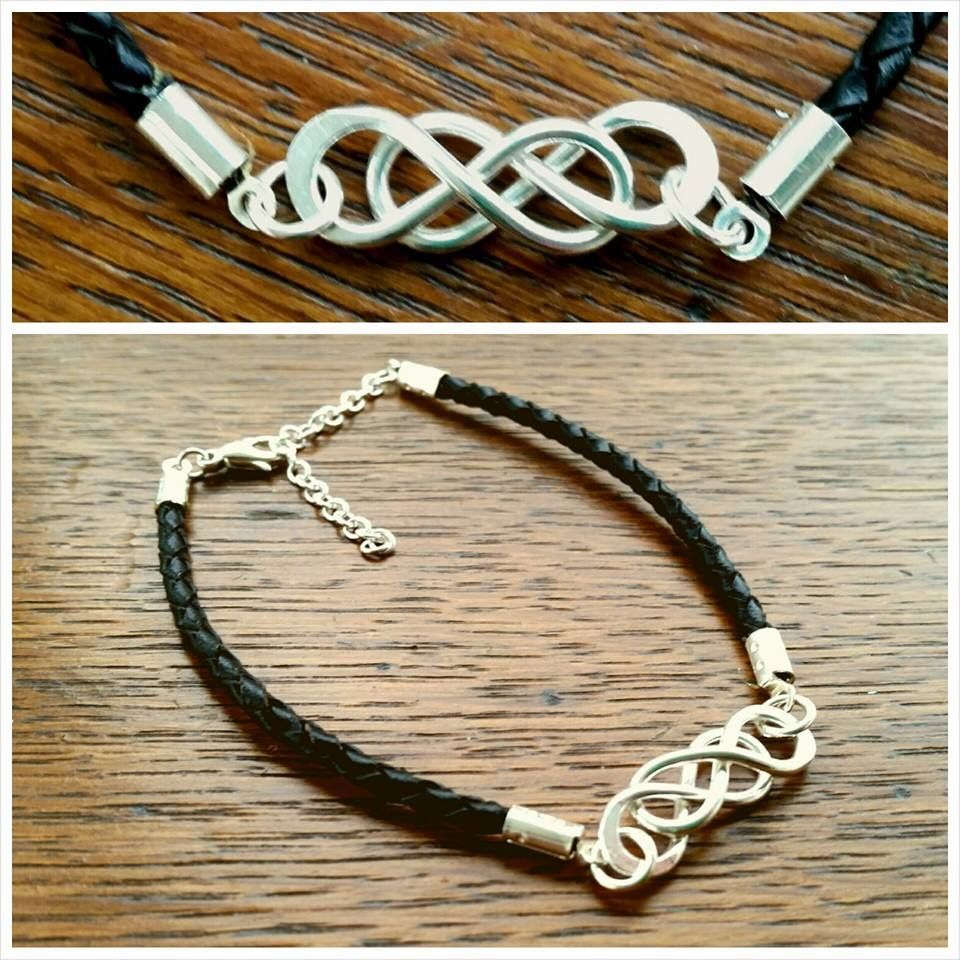 Handmade double infinity symbol corded leather bracelet katie rose handmade double infinity symbol corded leather bracelet katie rose jewellery sterling silver biocorpaavc Image collections