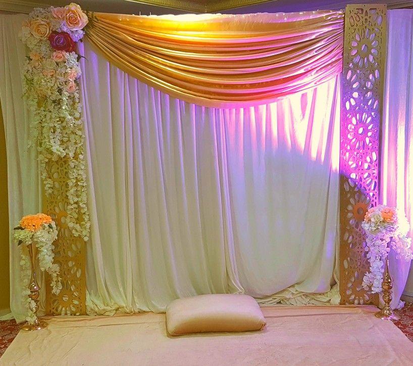 Wedding Nikah Simple Backdrop Decoration Muslim