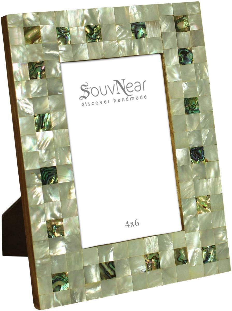 Wholesale Check Pattern 4x6 Silver Color Photo/Picture Frame in MDF ...