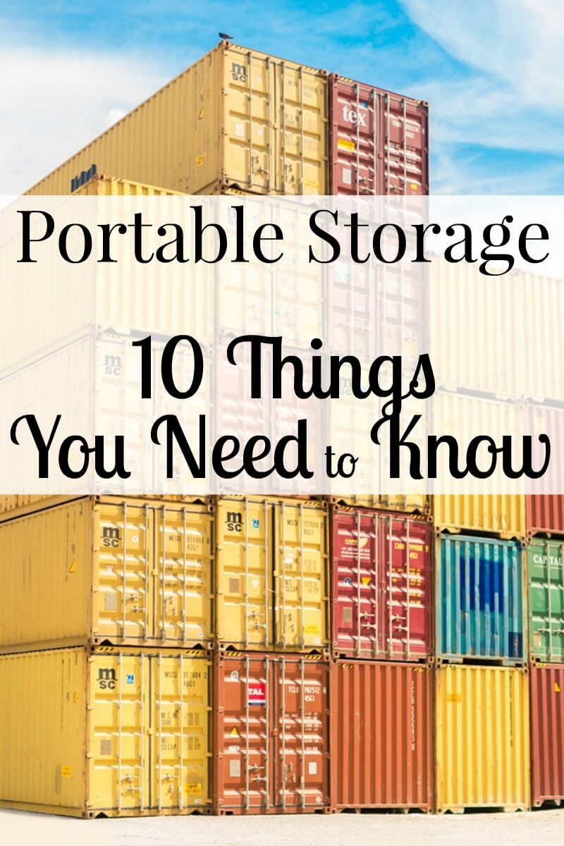 Portable Storage 10 Things You Need To Know Portable Storage Storage Portable