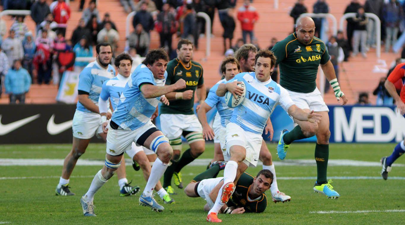 24/08/2013 Los Pumas, luego de dominar gran parte del encuentro, cayeron 22 a 17 ante Sudáfrica en el Malvinas Argentinas.