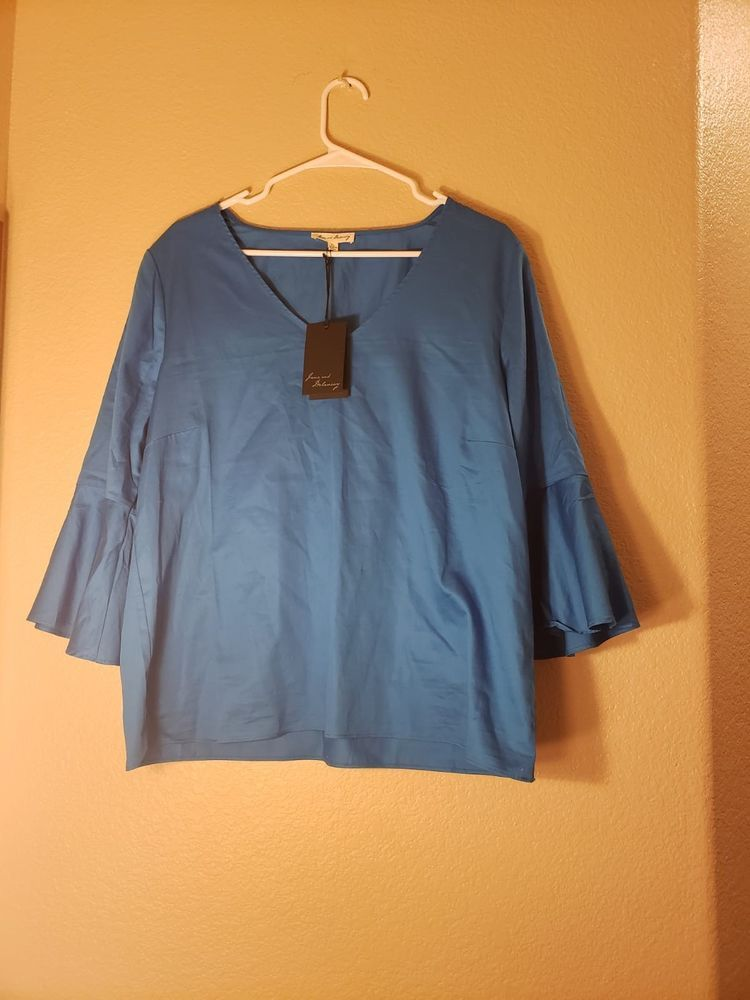 27c1d74e7c5 Jane and Delaney Top Size XL Teal  fashion  clothing  shoes  accessories   womensclothing  tops (ebay link)