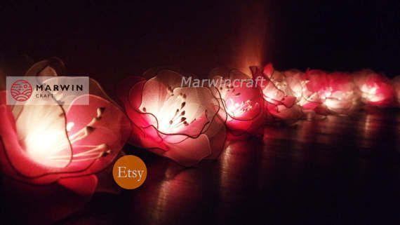 Pink String Lights Adorable 20 White Pink String Lights Rose Flower Fairy Lights Bedroom Design Ideas