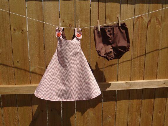 Fall Chevron CrissCross Dress  by BabyBirdsCloset on Etsy, $25.00