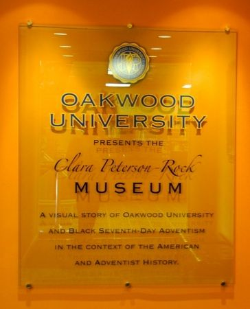 Clara Peterson-Rock Museum on the campus of Oakwood features