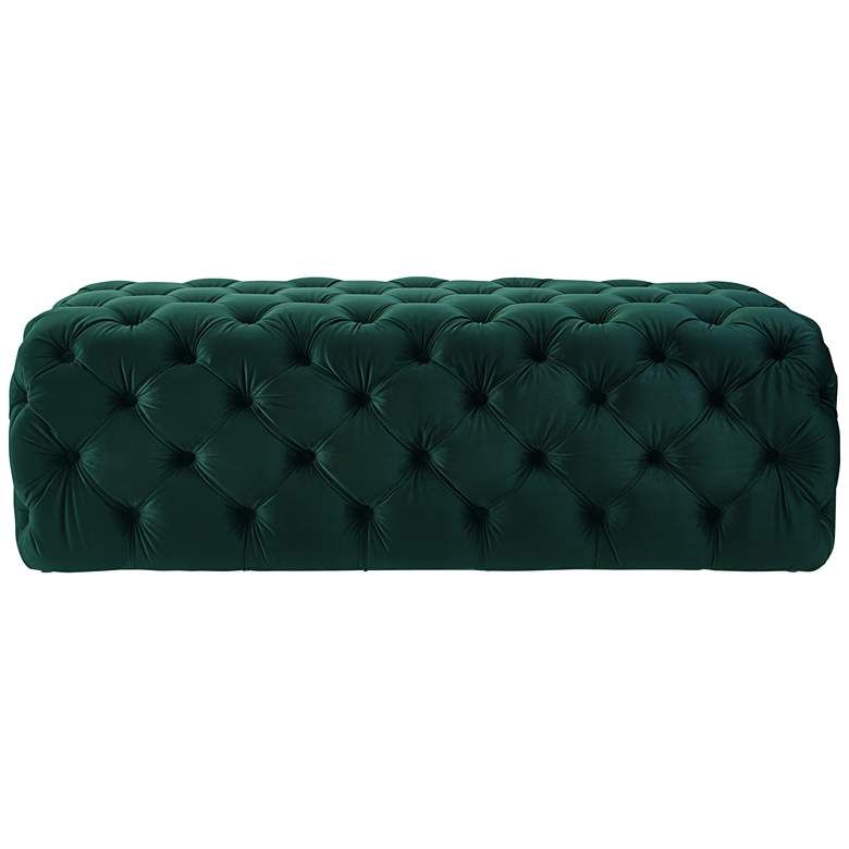 Fabulous Kaylee Jumbo Tufted Green Velvet Ottoman 20N52 Lamps Squirreltailoven Fun Painted Chair Ideas Images Squirreltailovenorg