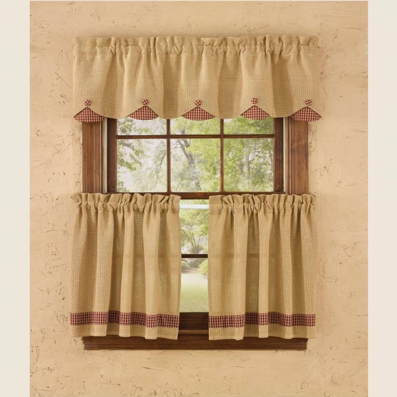 Ntry scalloped valance curtains valance hessian and valance curtains