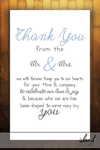 wedding program thank you sample wording on pinterest