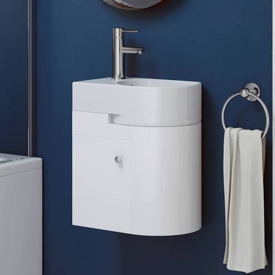 small sink with vanity unit. corner cloakroom sink vanity  Small Toilets Ideas Downstairs Loo