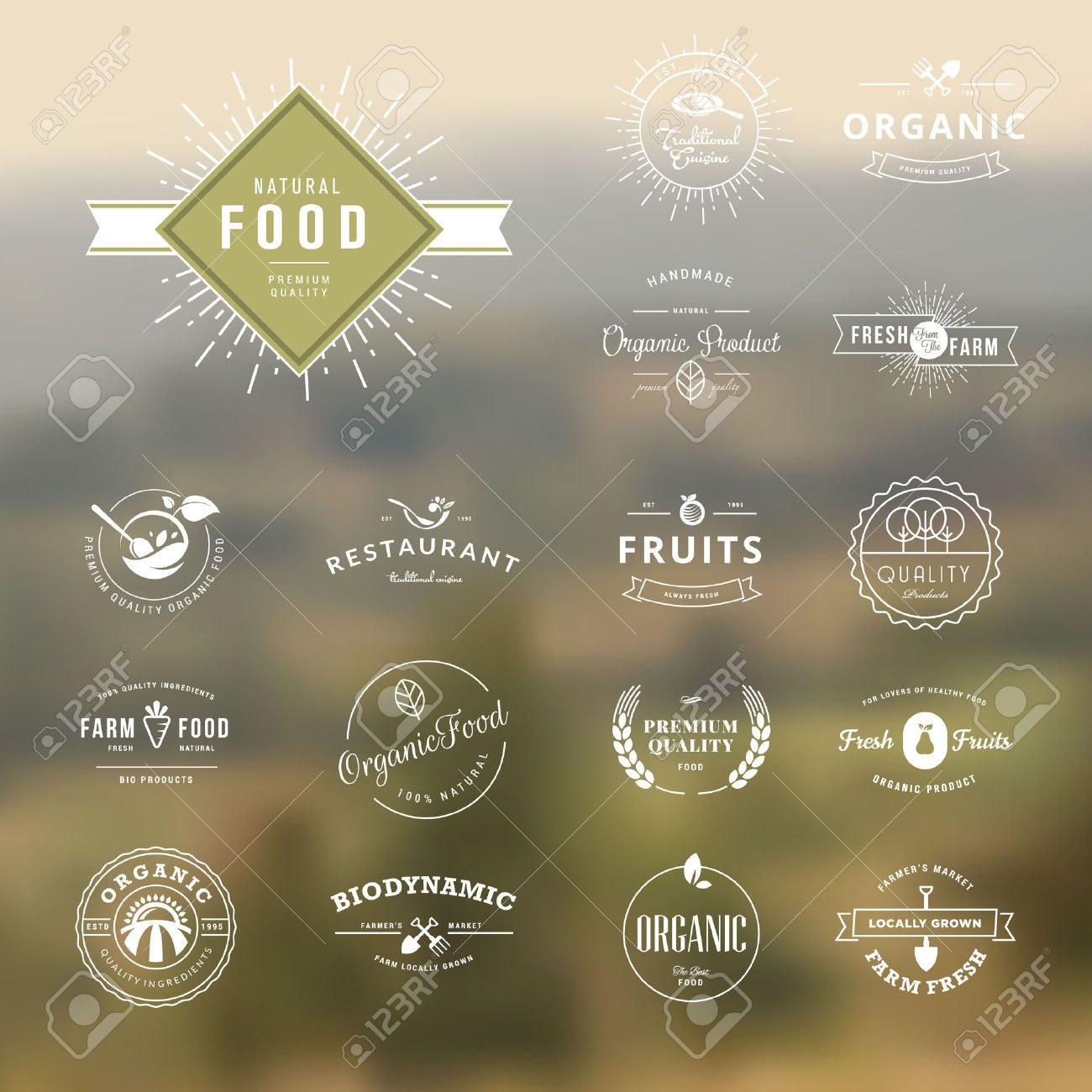 Vintage Tree Logo Icon