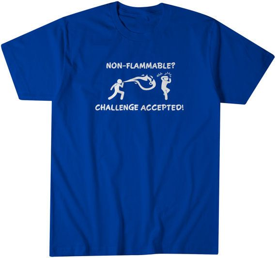 9f153b22 Funny Tees Science class tshirt Challenge Accepted Tshirt Funny ...