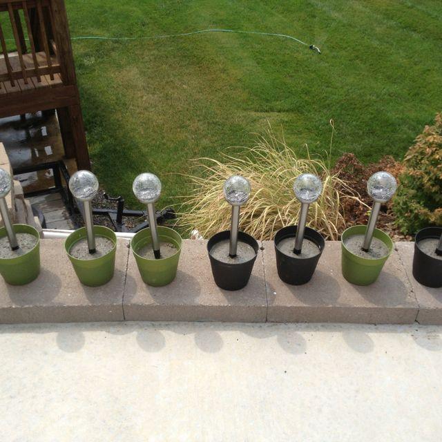 Diy 5 Pvc Led Landscape Lights: DIY Landscape Light Anchors. $.96 Plastic Pots, $3 Solar