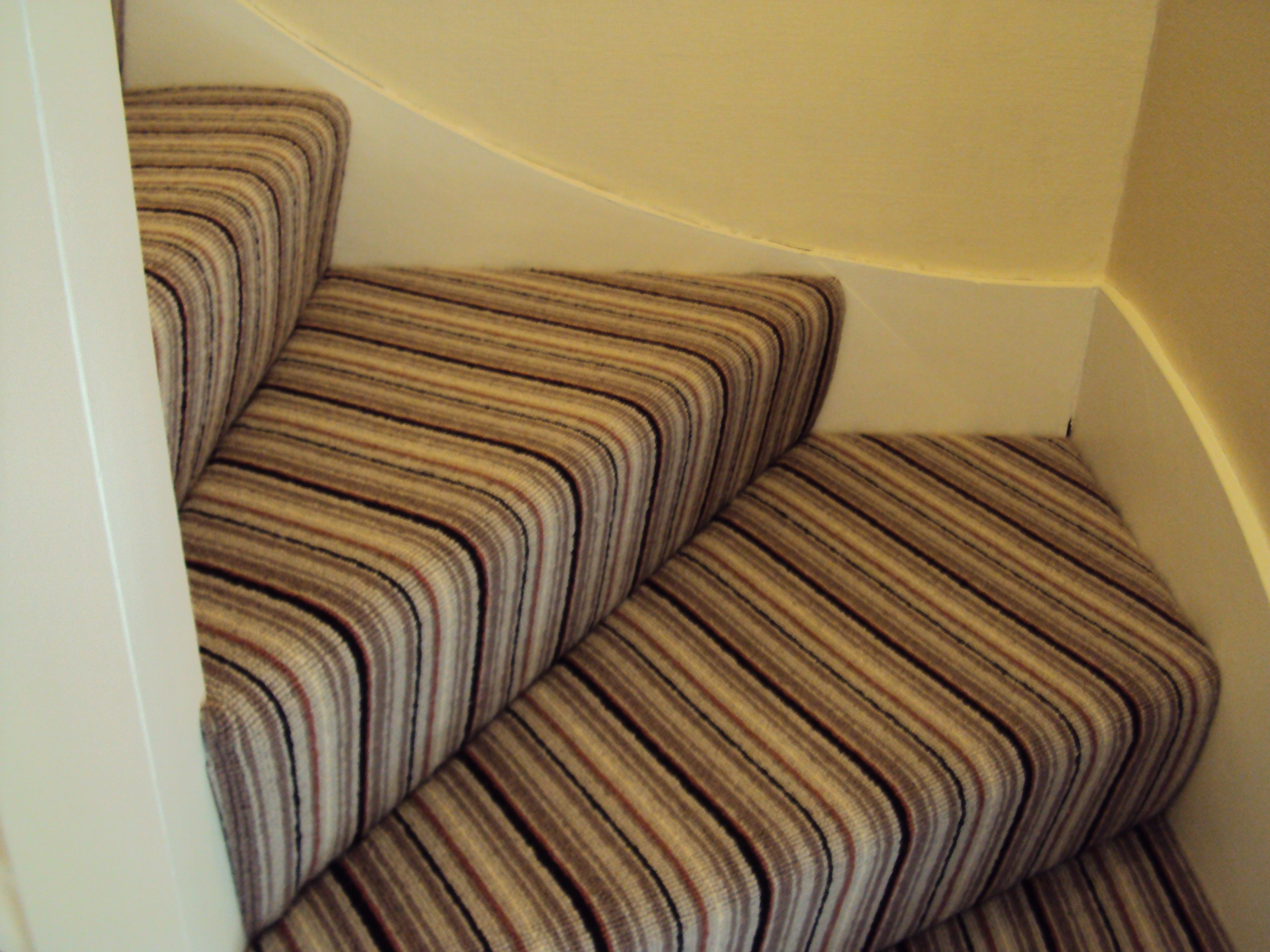 Striped Carpet On Stairs With 4 Step Winder Google