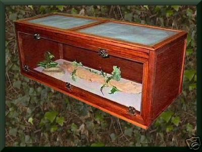 how to make a reptile cage out of wood