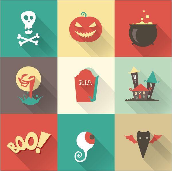 Halloween Vector inspirational - Flat Design Vectors   Vectipsру